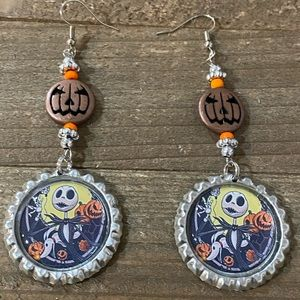 Jack Skellington Pumpkin King earrings